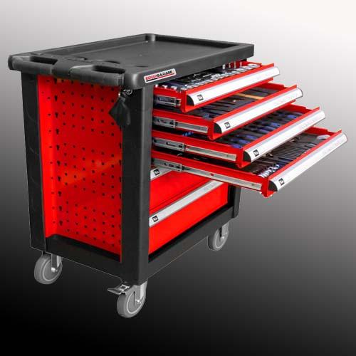 Carrello officina rosso 6 cassetti